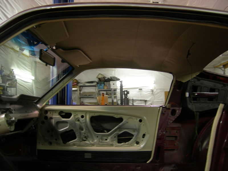 The Headliner has some minor wrinkles, but the overhead console and some other trim needs to be installed.  That and a hair dryer will take care of them.