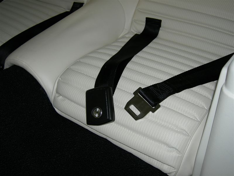Seat Belts restored by Ssnake Oyl, including Ford tags with correct date codes.