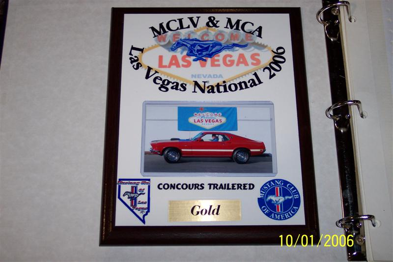 Vegas MCA National, Division 1-Concours Trailered Gold Winner, 9/29-10/01/06.
