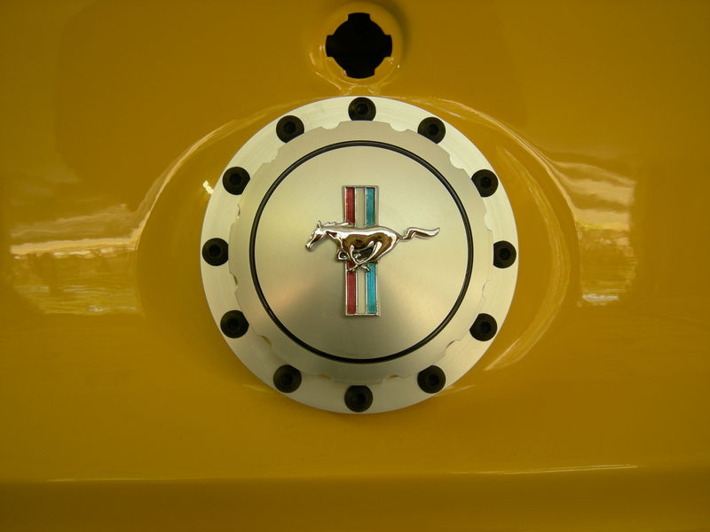 My selection for a Restomod gas cap, I like it.