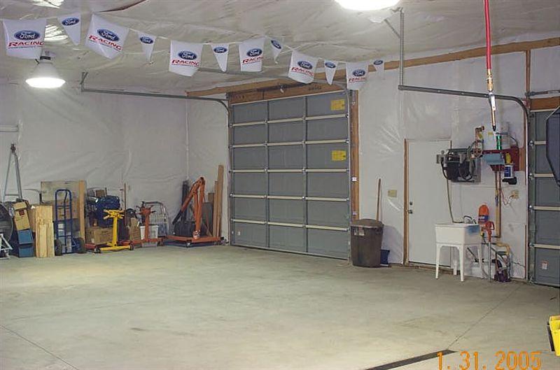 Larger door for trailer access.